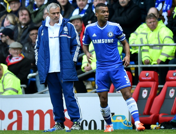 Jose Mourinho and Ashley Cole