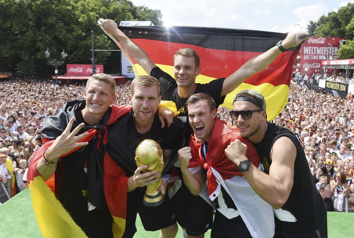 Germany Squad Parades through Berlin after World Cup Win