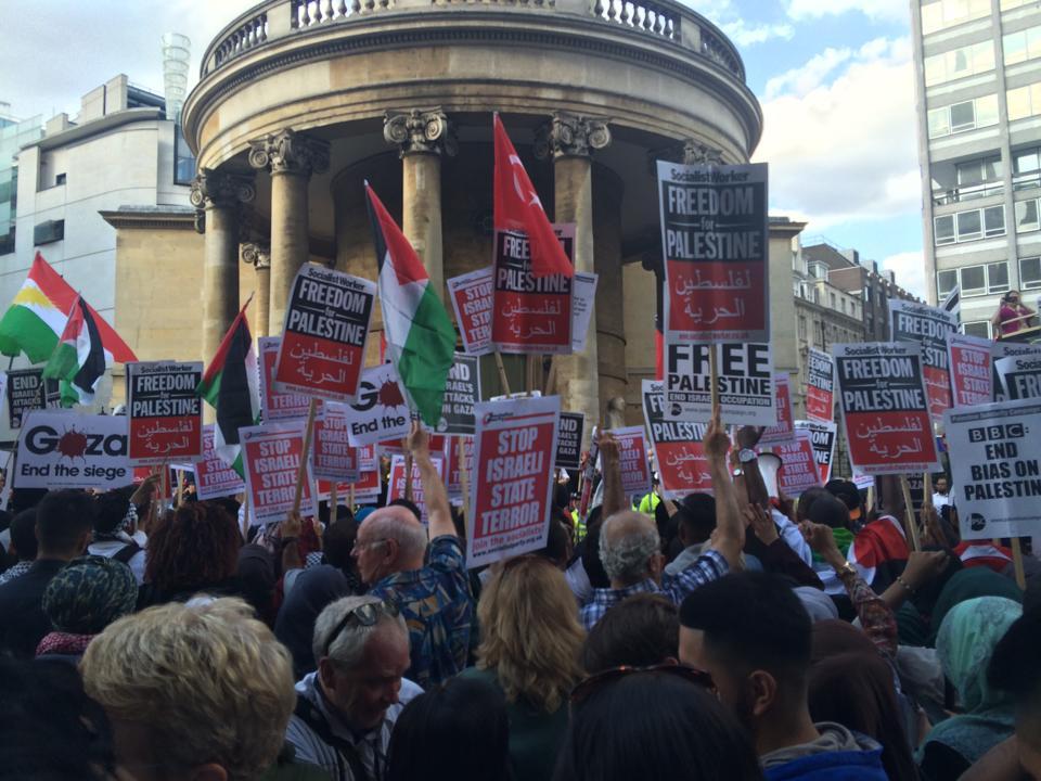 Pro-Palestine protesters BBC London
