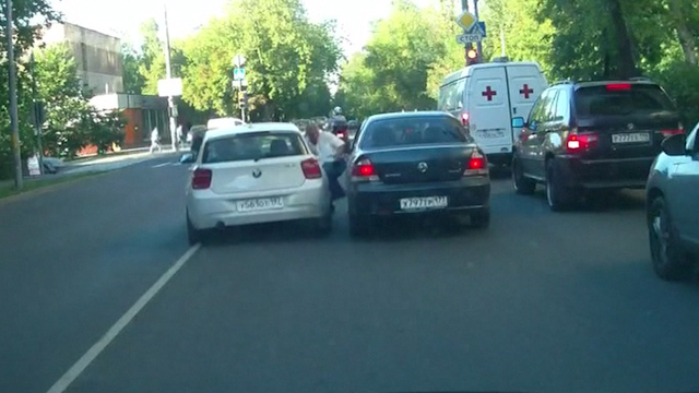 Video of Russian Driver Running Over Old Man after Argument