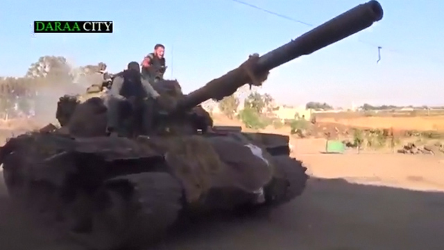 Syrian Rebels Take Control of Town in Deraa