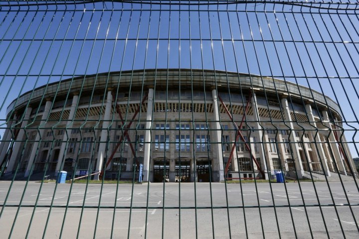 A general view of the Luzhniki Stadium is seen in Moscow