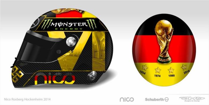 Nico Rosberg Helmet