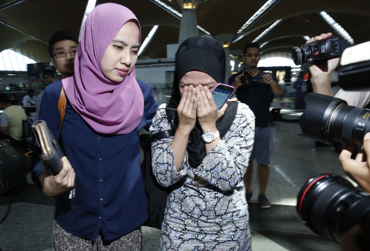 Relatives of passengers on board Malaysia Airlines flight MH17