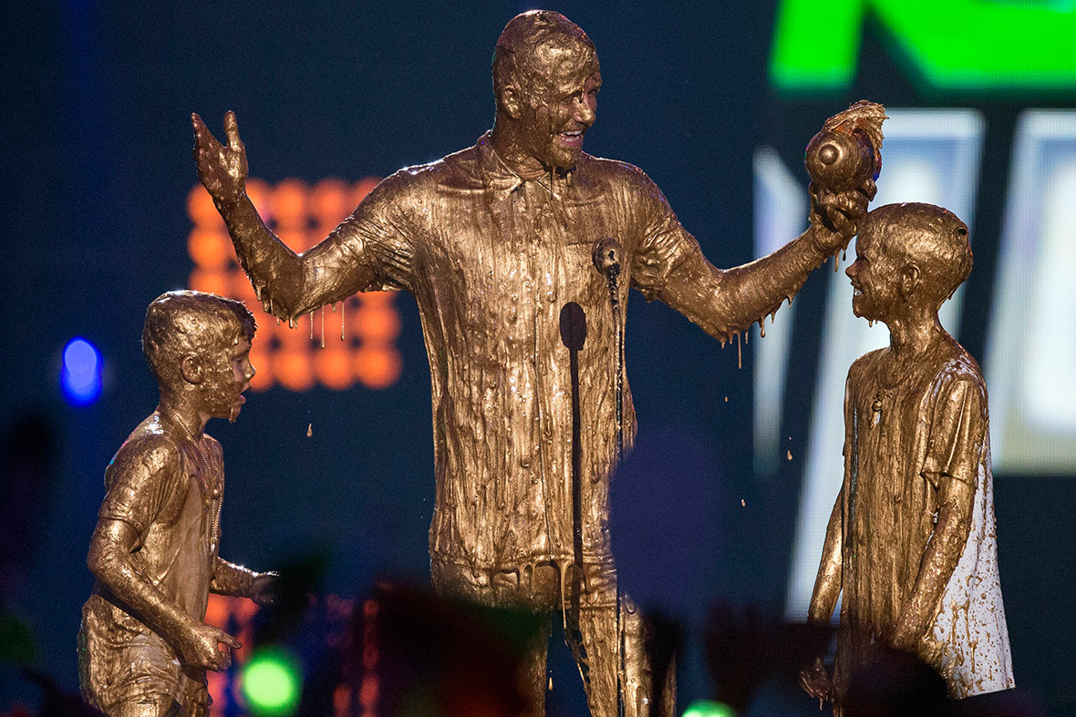 david beckham slimed