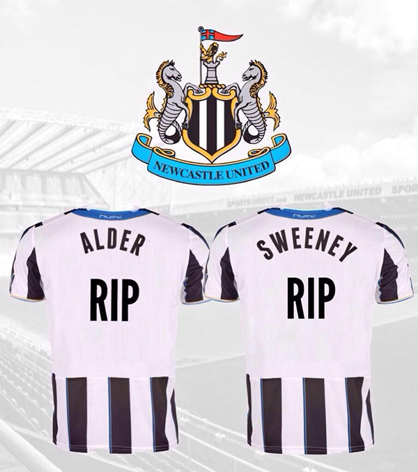 Newcastle United said two of its fans who were flying to watch the team's tour of New Zealand were also among the dead. The club's website named the supporters as John Alder and Liam Sweeney