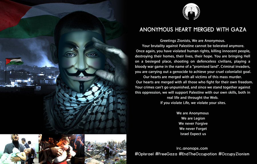 Anonymous Heart Merged With Gaza message