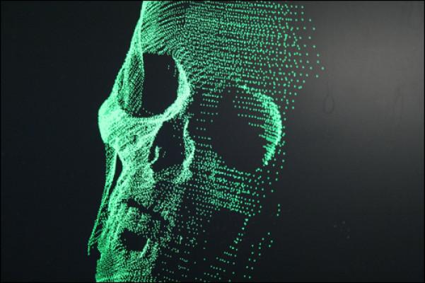 Digitally scanned image of a skull (FBI)