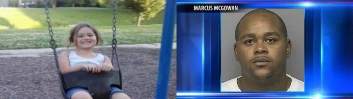 Five year old Cadence Harris was killed in a shootout involving Marcus McGowan, her mother's boyfriend