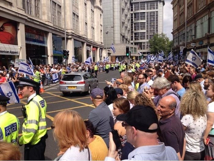 Two thousand protesters were expected to attend Sunday's pro-Israel rally.
