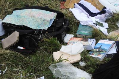 Malaysia Airlines passengers belongings