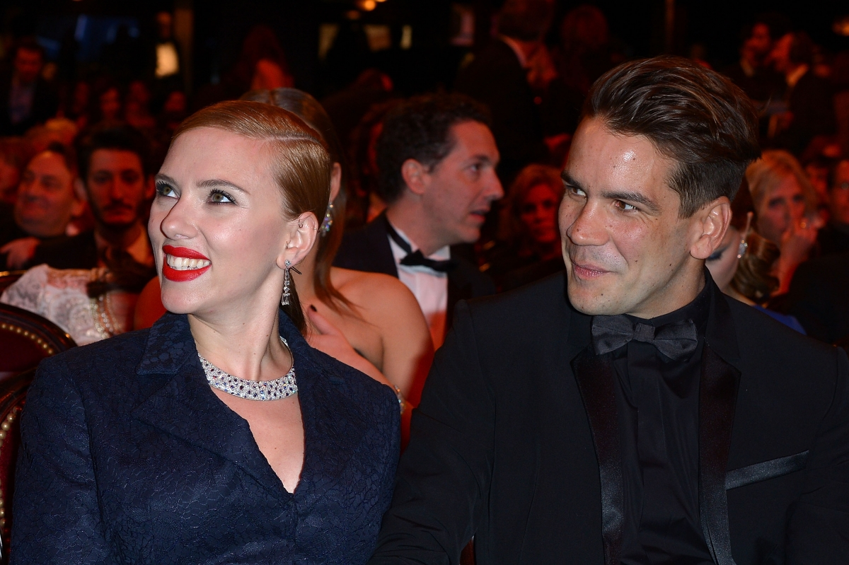 Actress Scarlett Johansson and Romain Dauriac