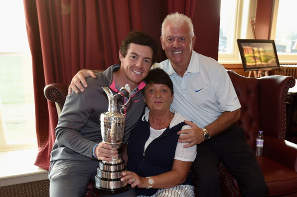 Rory, Rosie and Gerry McIlroy
