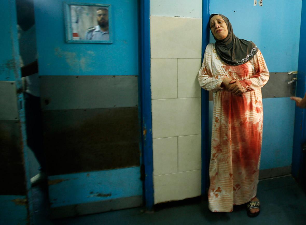 gaza woman blood