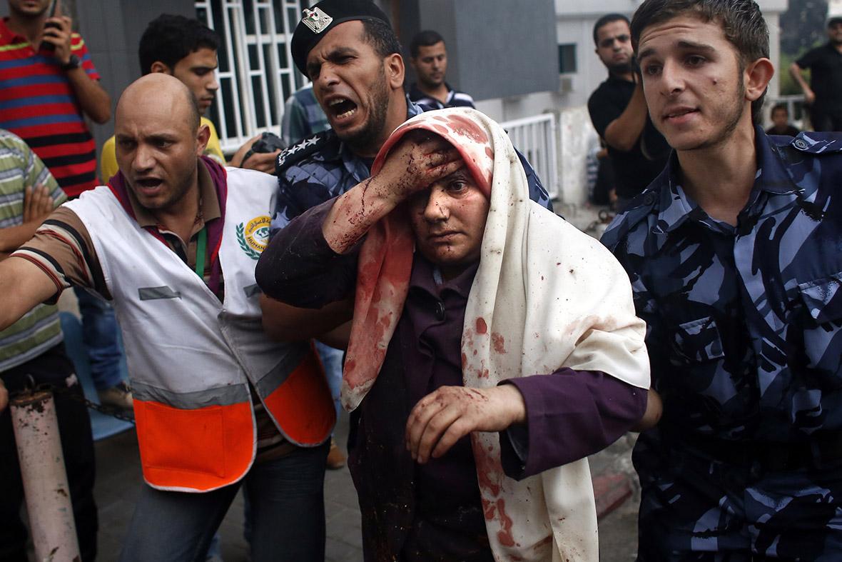 gaza wounded