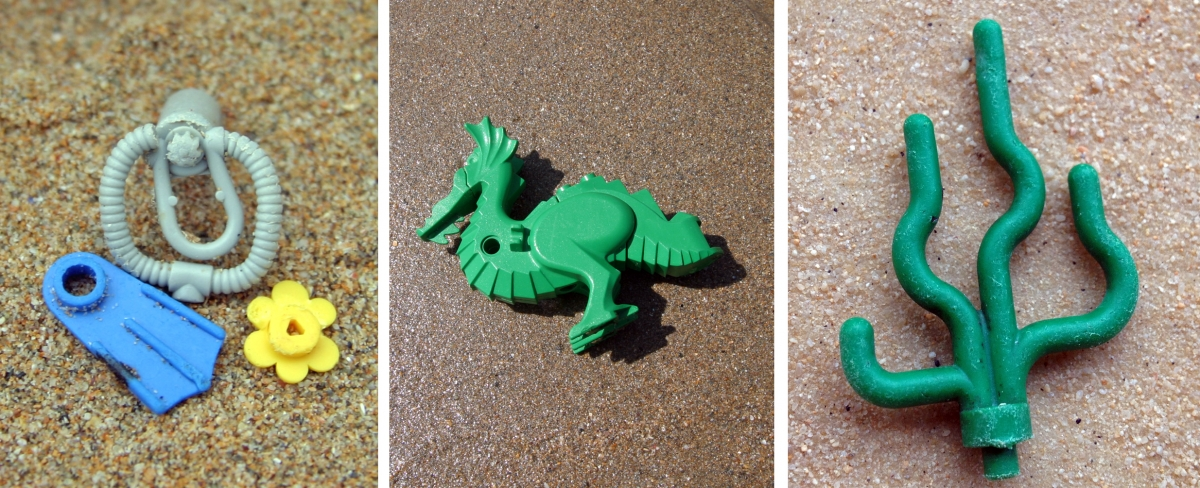 Vintage Lego from a 1997 container spill that continues to wash up on beaches in the UK