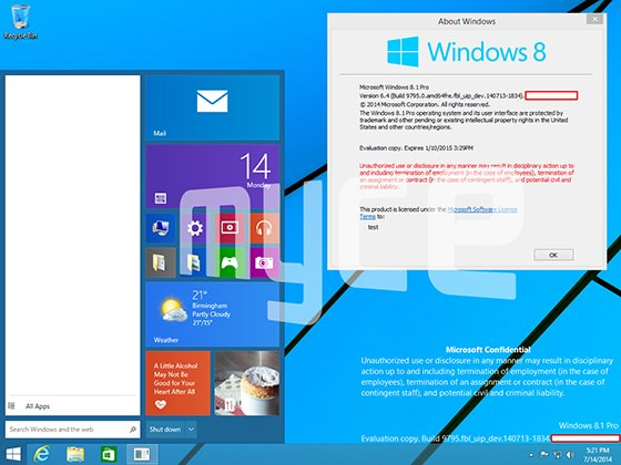 Windows 9: 'Threshold' Build 9795 Reveals New Start Menu, Metro-Style Windowed Apps