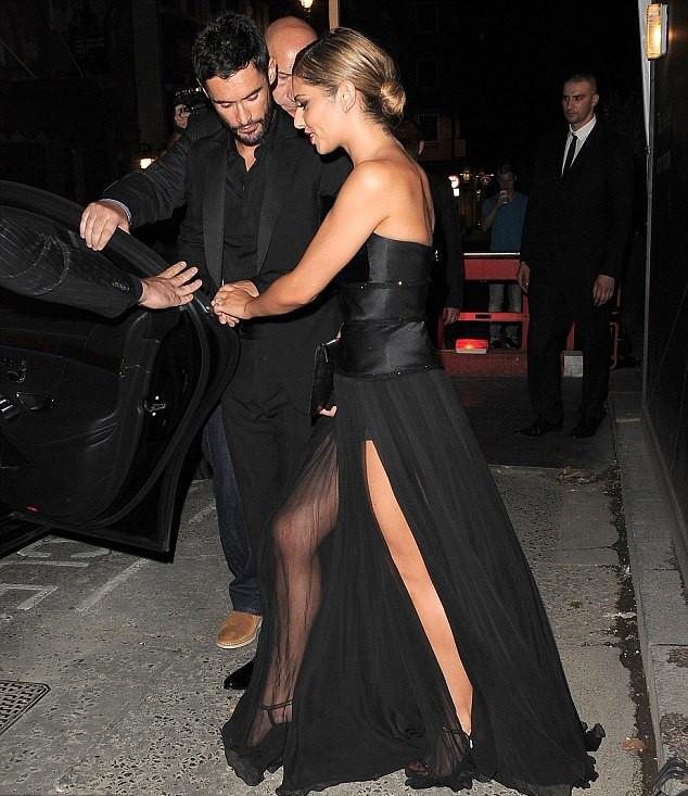 Cheryl Cole Wedding Hairstyle: Cheryl Cole\'s Sheer Black Wedding Dress