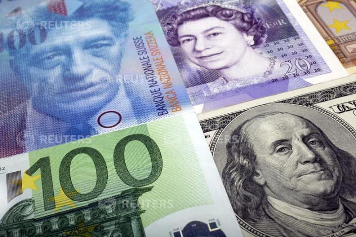 Euro, pound, franc, dollar