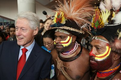 AIDS conference Clinton