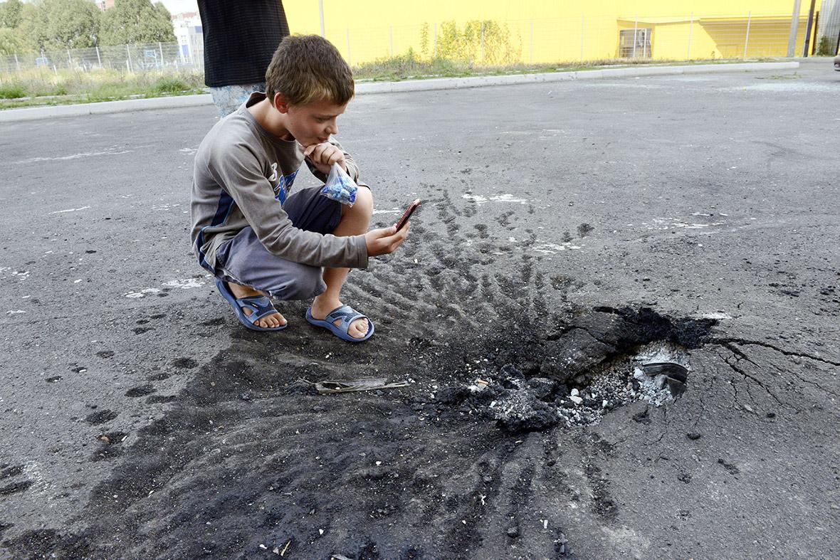 ukraine crater