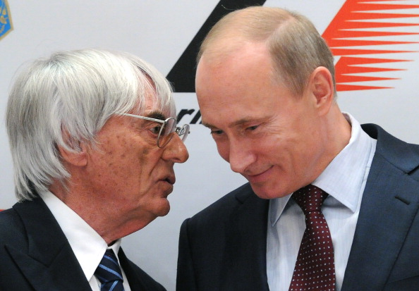 Bernie Ecclestone and Vladimir Putin