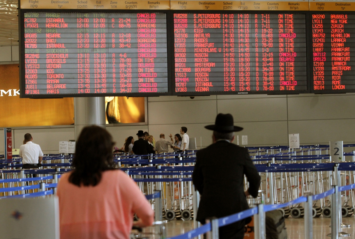 Tel Aviv flights cancelled Gaza
