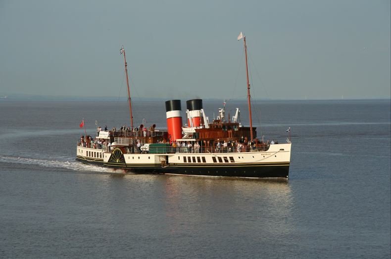 The Waverley, the last surviving paddle steamer