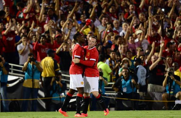 Danny Welbeck and Wayne Rooney