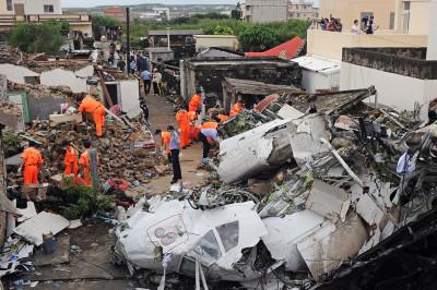 taiwan plane crashwreckage