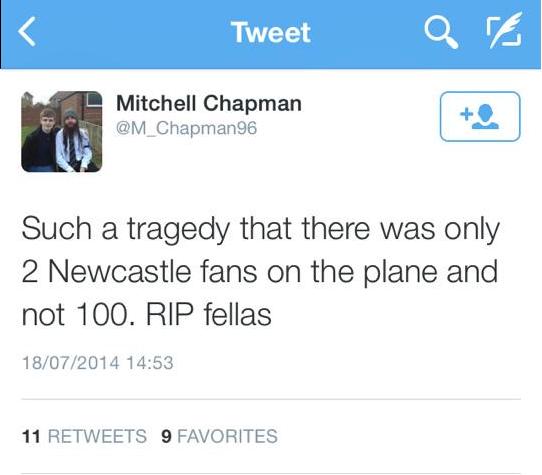 Mitchell Chapman tweet
