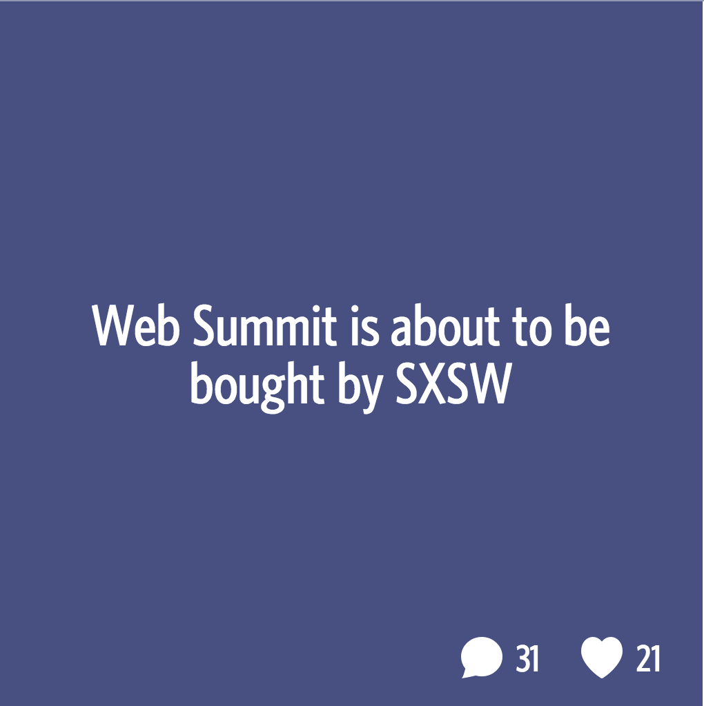 SXSW to Buy Web Summit on Secret
