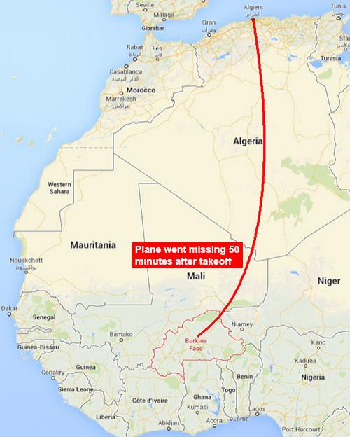 Air Algerie map