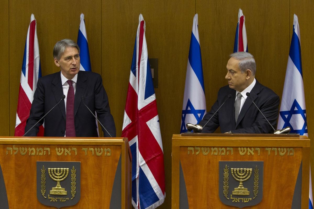 Philip Hammond Benjamin Netanyahu
