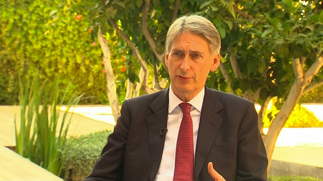 Hammond: UK Supports Israel's Right to Defend Itself