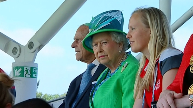Queen Visits Commonwealth Games Venues