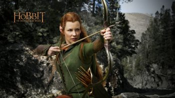 Tauriel, played by actress Evangeline Lilly