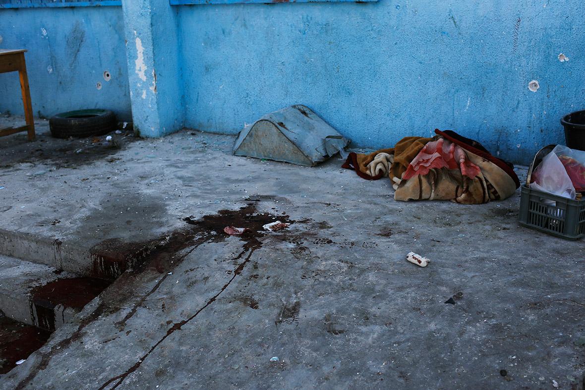 gaza UN school blood