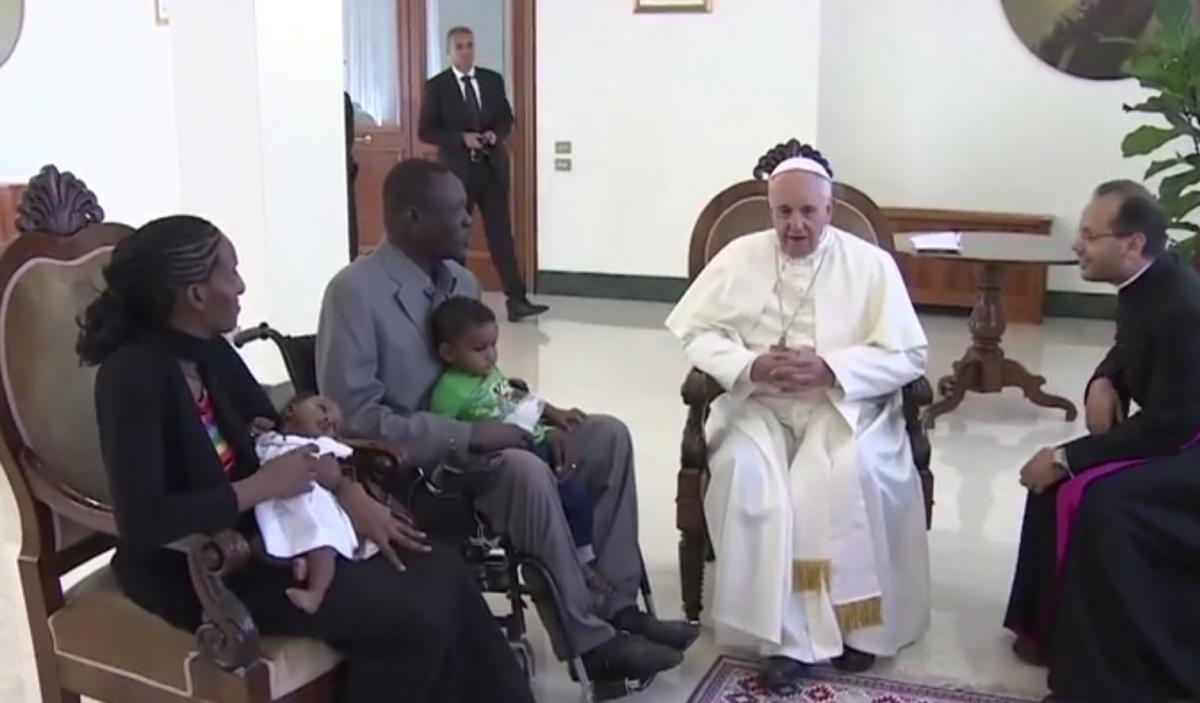 Sudanese Christian Woman Meriam Ibrahim Pope Francis