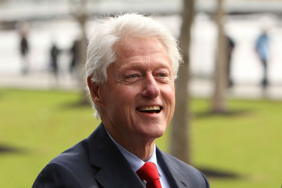 Former U.S. president Bill Clinton visits India