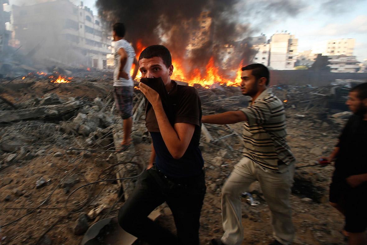 gaza fire
