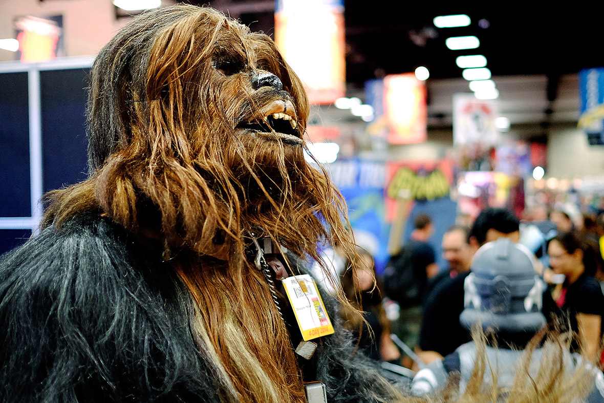 comic con chewbacca
