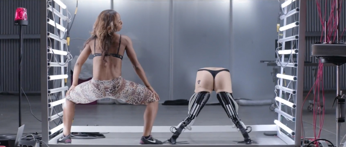 Twerk-Bot 1.0, an imaginary invention dreamed up by Basement Jaxx