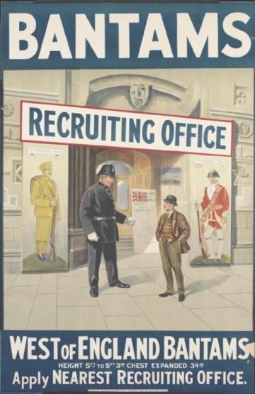 Bantam Battalion recruitment poster