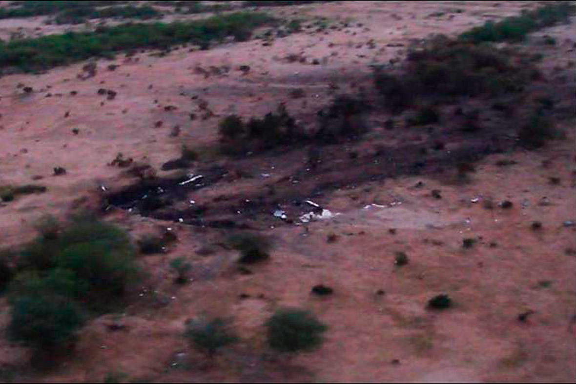 Air Algerie wreckage aerial