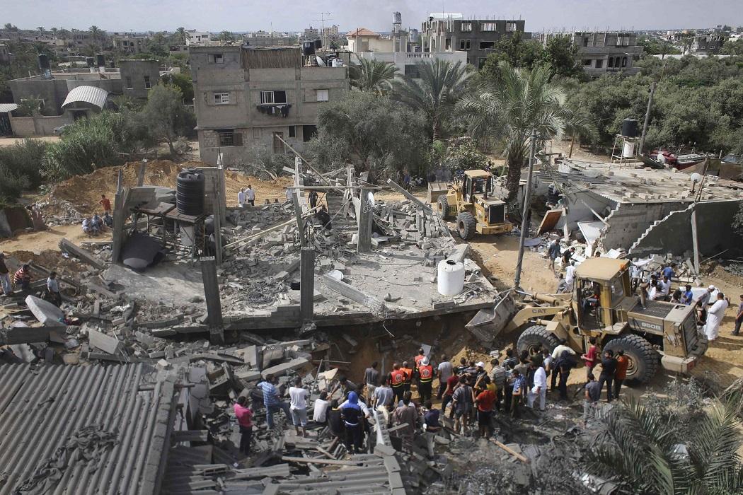 House destroyed by Israeli strike in Gaza