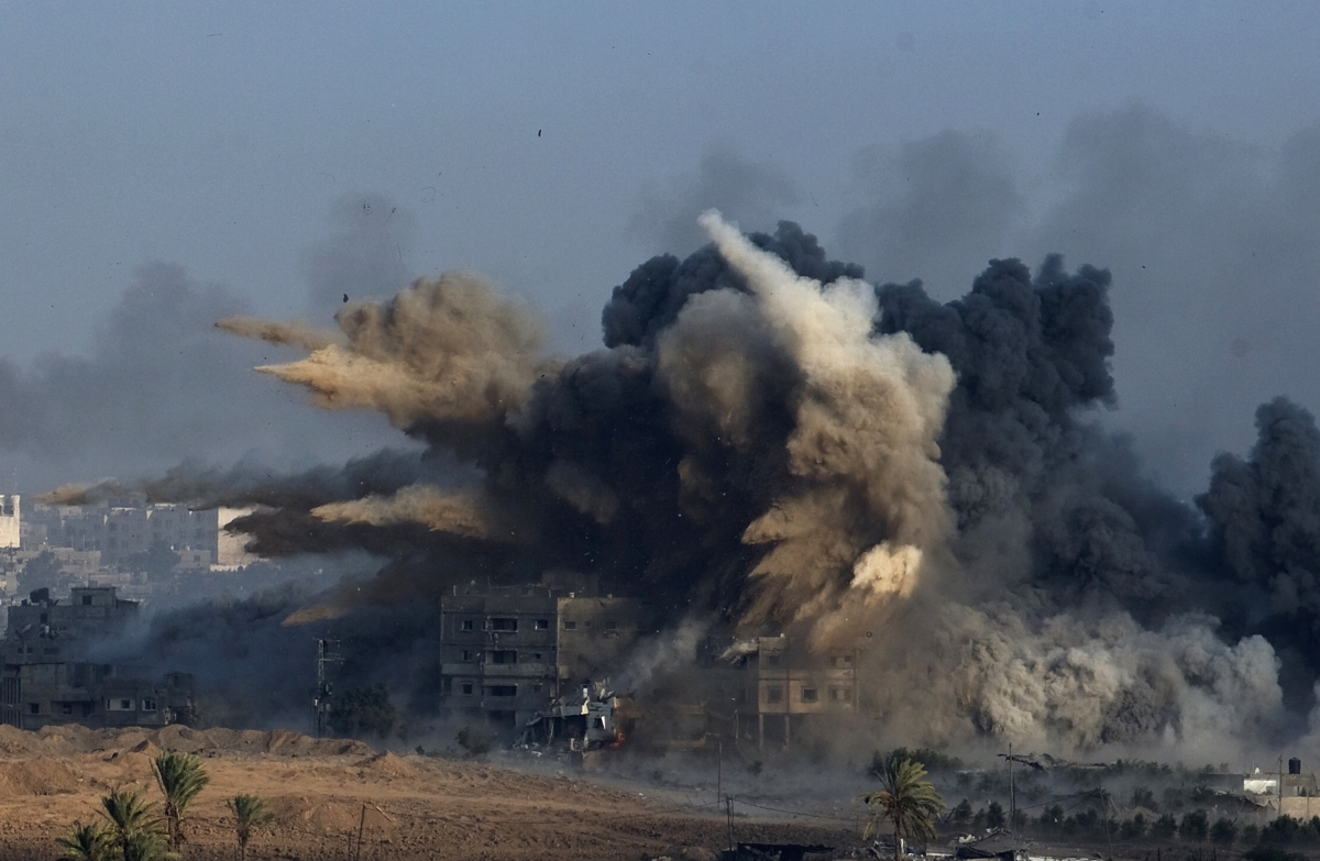 Explosion during an Israeli strike