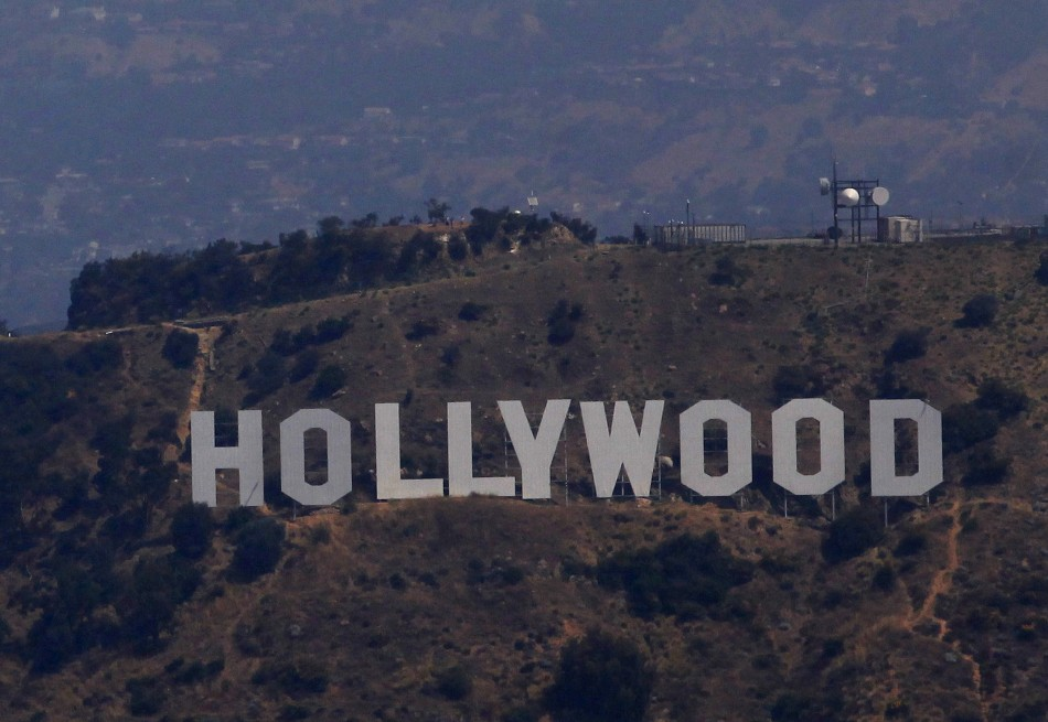 A view shows the Hollywood sign in Los Angeles