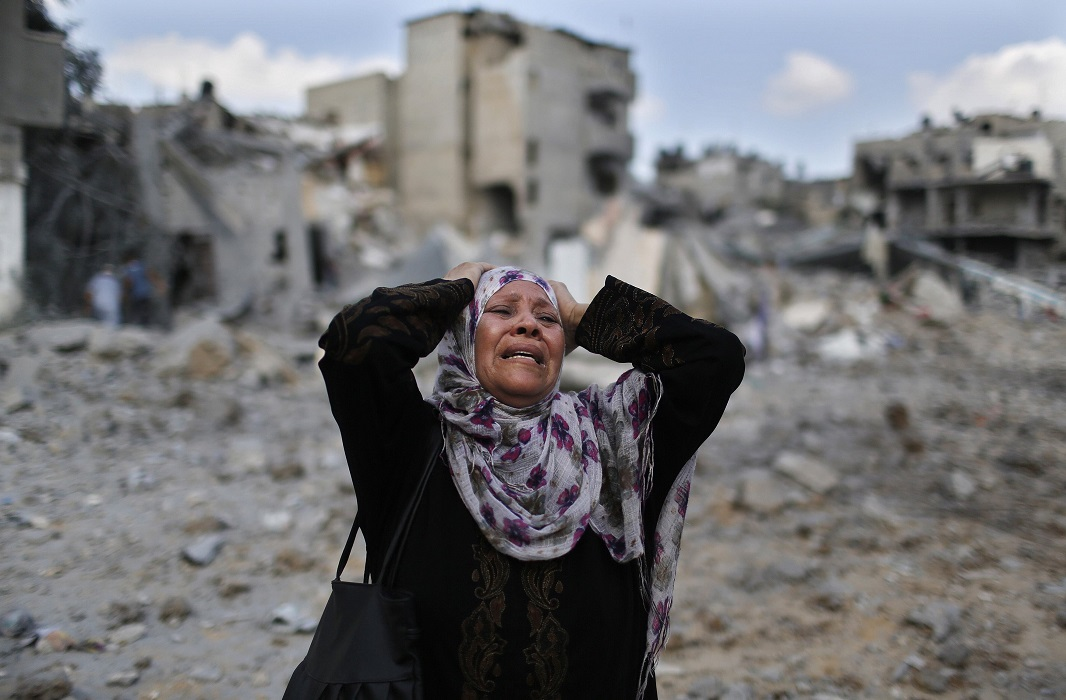 Palestinian woman in Gaza strip