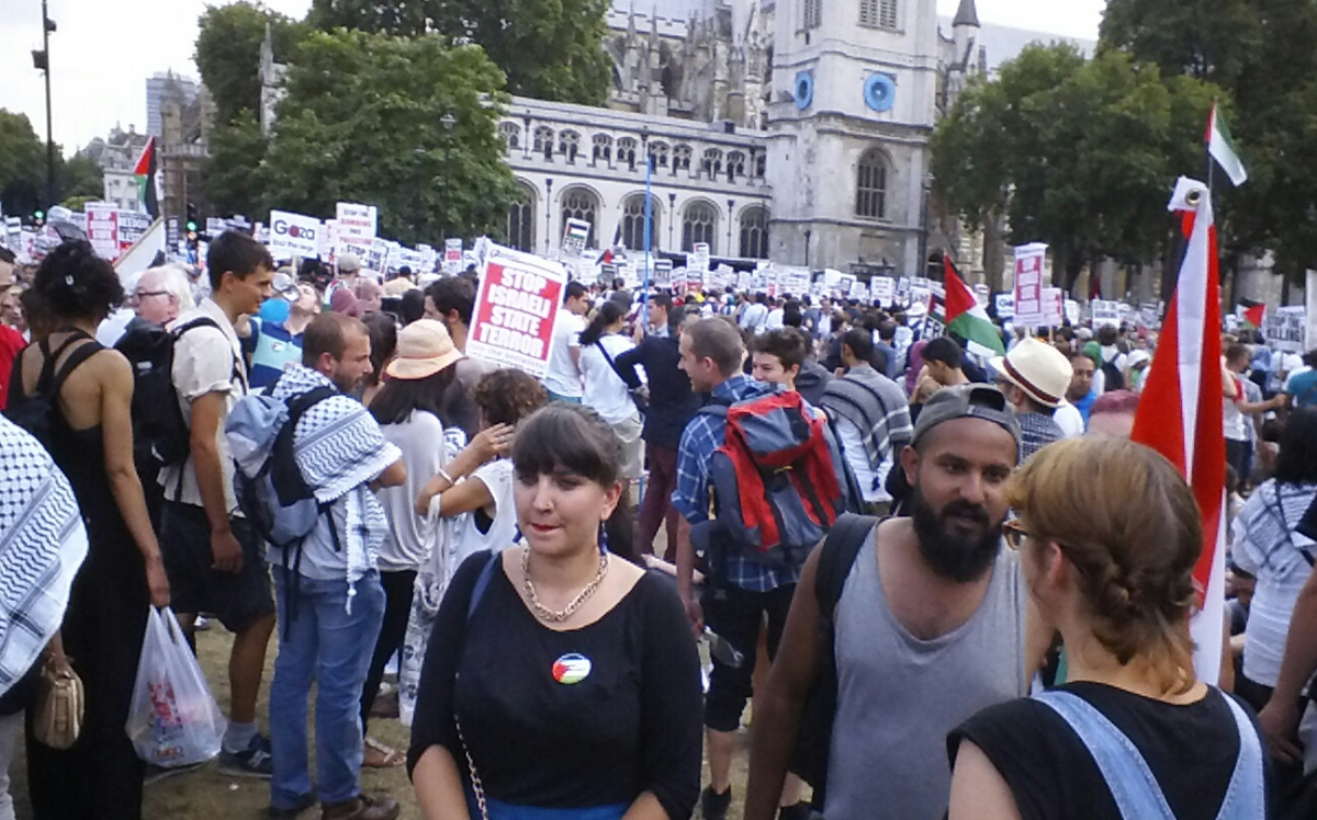 An estimated 45,000 people attended the march for Gaza in London, according to  figures released by the Metropolitan Police.